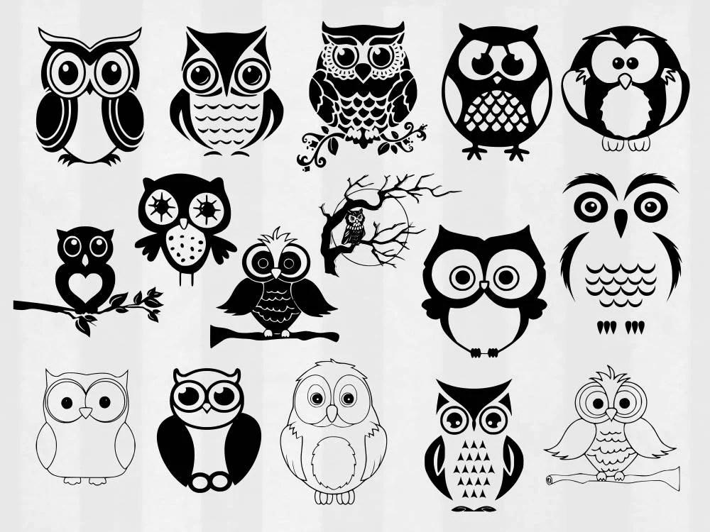 Download Owl SVG Bundle Owl clipart Owl cut files Owl svg files for