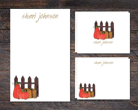 2018 Fall Collection: The Pumpkin Patch Stationery Set