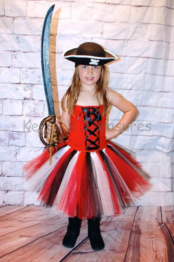 Falda Rosas Tonos Pirata En De Con Tul Disfraces Cqwx7UC