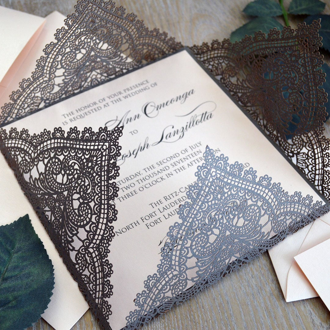 Lace Cut Invitations