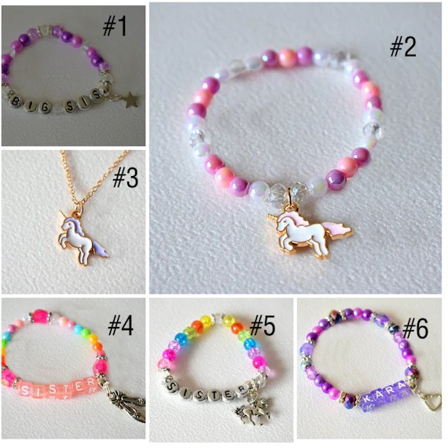 Kids personalised bracelets