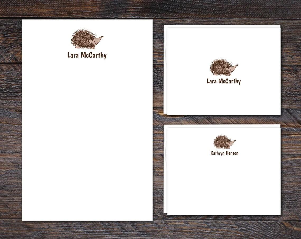 Hedgehog Stationery Set -...