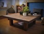 coffee table, wood natura...