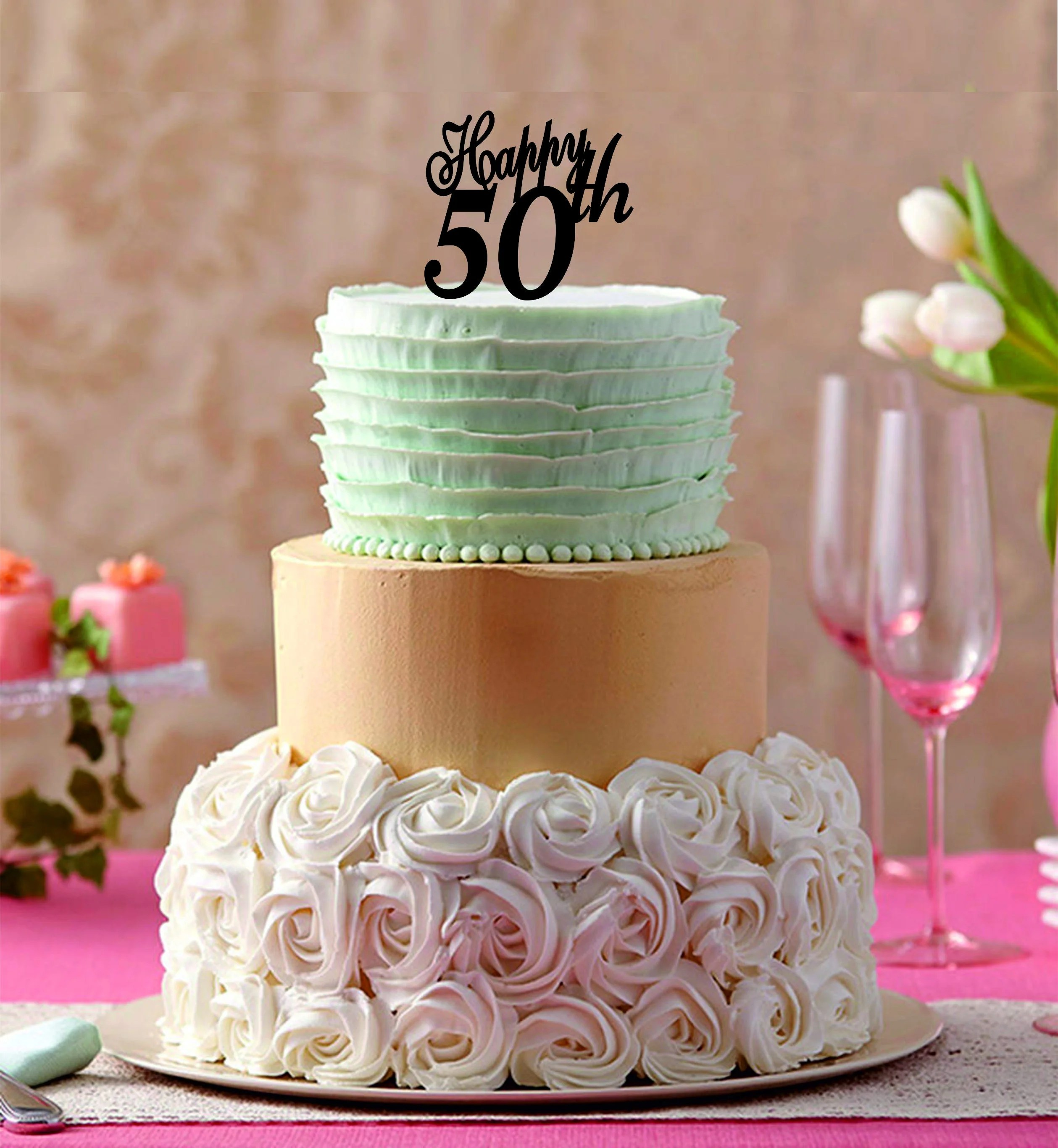 50 Years Old Happy Birthday Cake