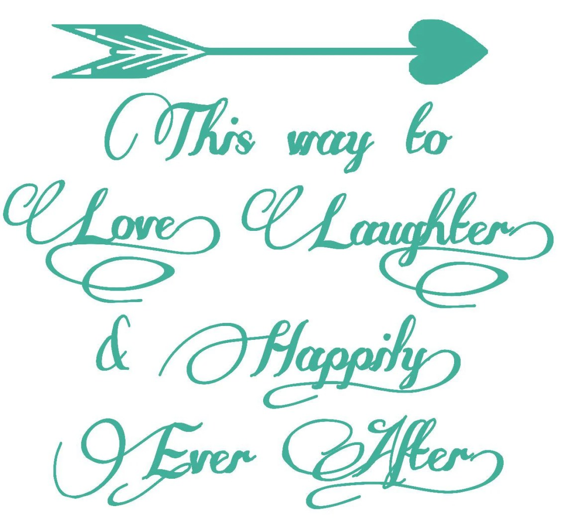 Download Wedding sign This Way to Love Laughter & Happily Ever ...