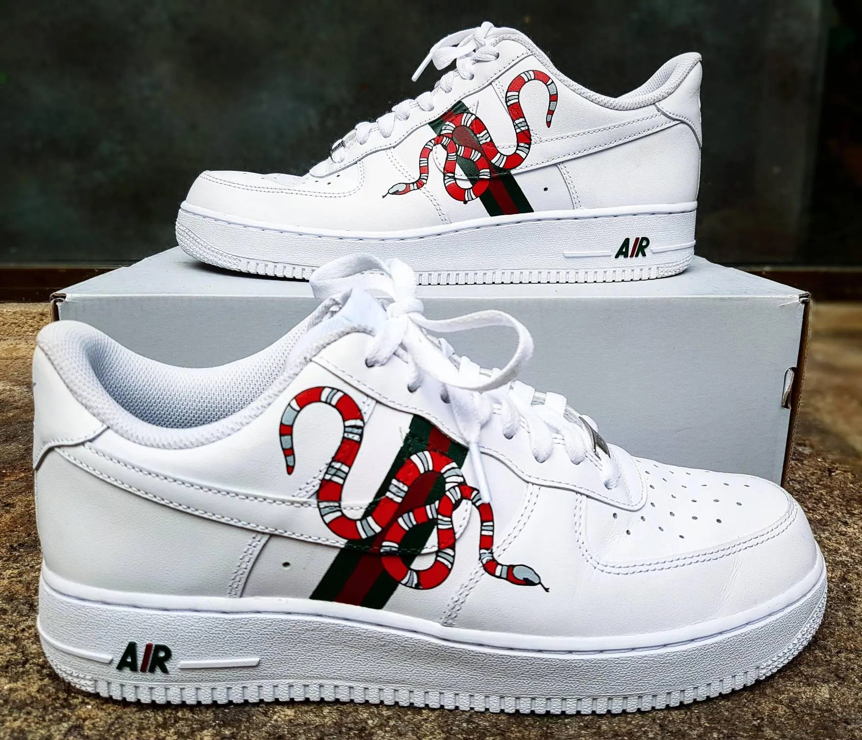 Custom Air Force One Shoes Gucci