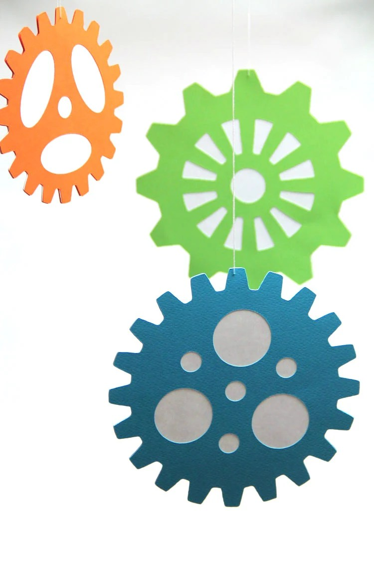 Large Gears Hanging Decoration From The Robots Amp Gears