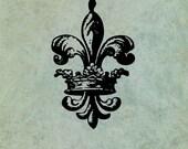Crowned Fleur de Lys- Ant...