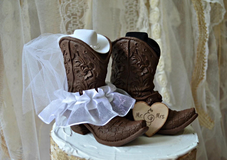 SALE Western Wedding-boots-cowgirl-hat-cowboy-wedding-cake