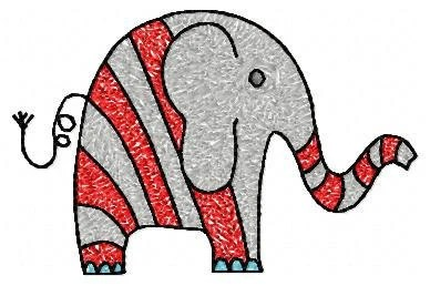 4x4 hoop Elephant Machine Embroidery Design File, digital download