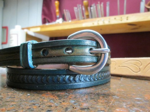 Womens blue belt, blue dr...