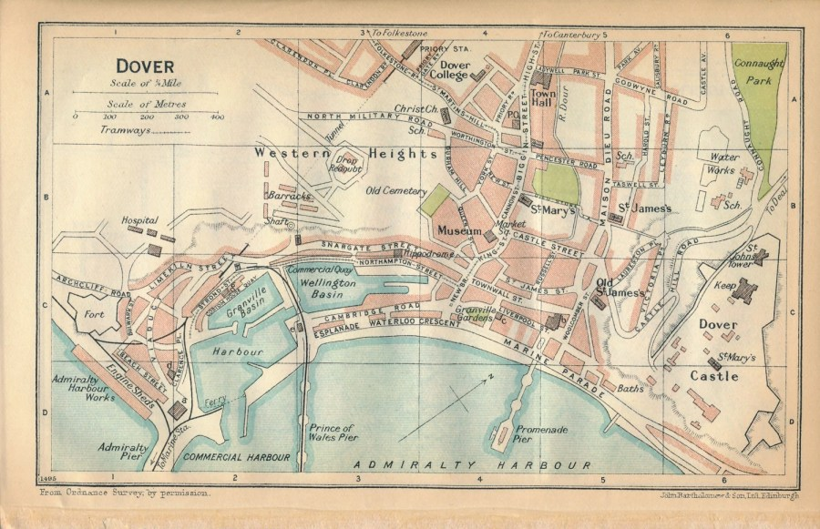 1930 Dover   Folkestone United Kingdom Great Britain Antique