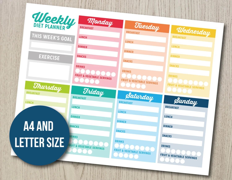 Weeklyt Planner Bujo Bullet Journal Printable