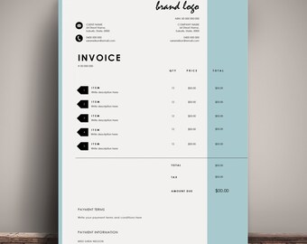Invoice Template Receipt MS Word and Photoshop Template The  Nelson  Invoice Template   Receipt   MS Word receipt template   Invoice  Download