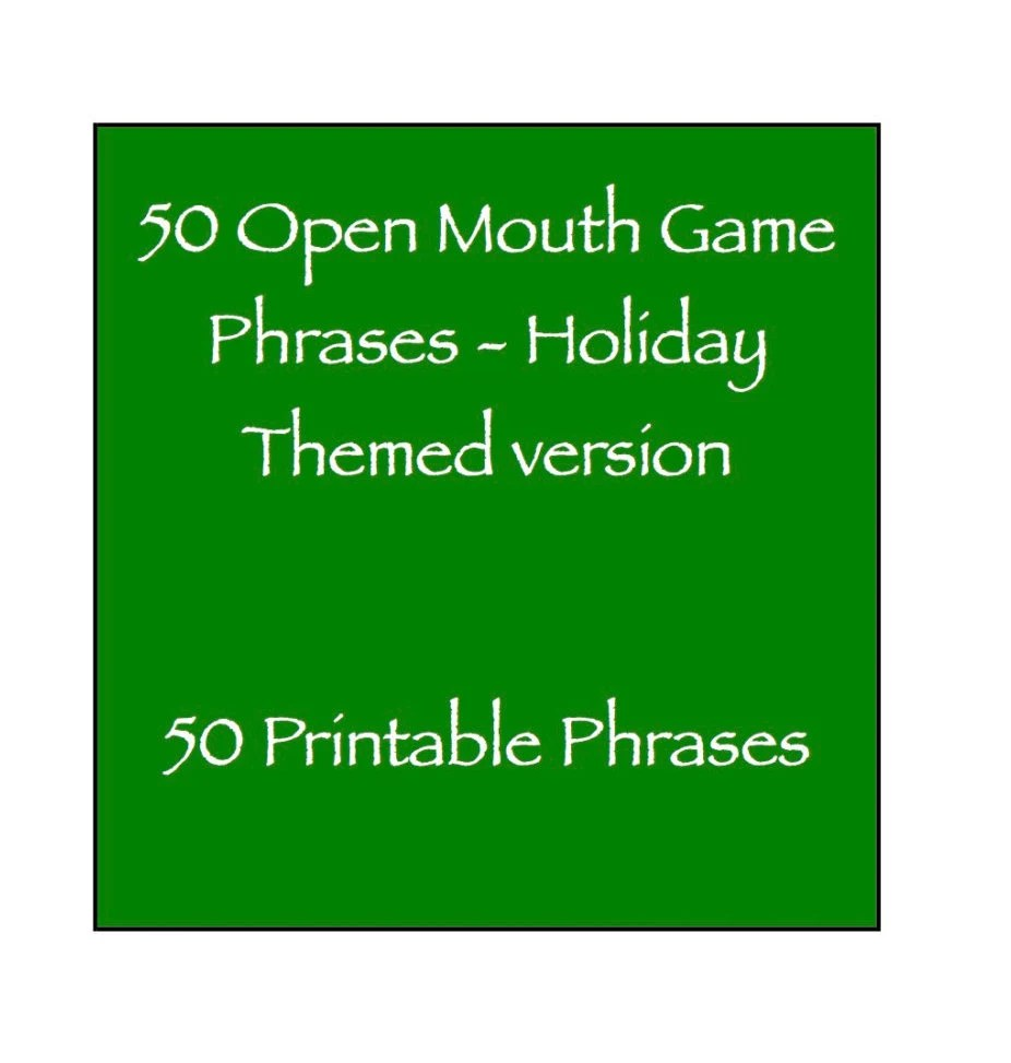 Open Mouth Game Phrases Holiday Themed Halloween