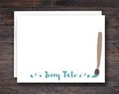 Paintbrush Notecard Set -...