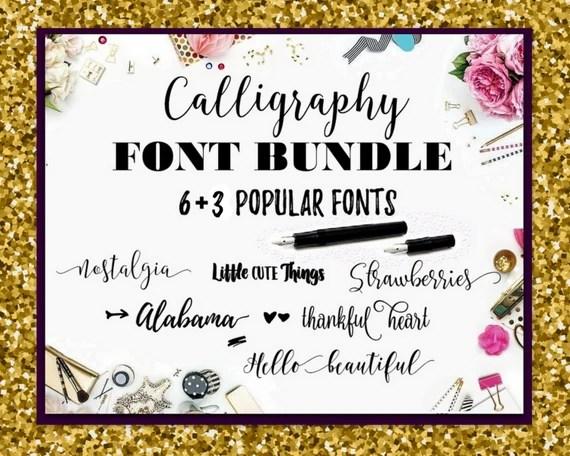 Download Font Bundle Fonts Fancy Fonts Swirly Fonts Digital Font