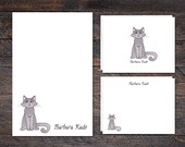 Cat Stationery Set - Pers...