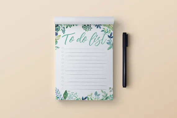 A6 Floral To Do Notepad Shipped