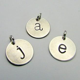 letter stamped pendant