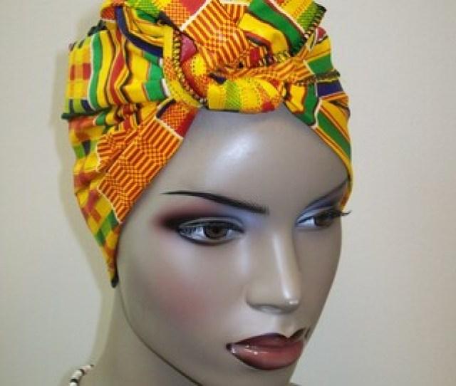 X Inch Mini Kente Print Mini African Head Wrap Head Band