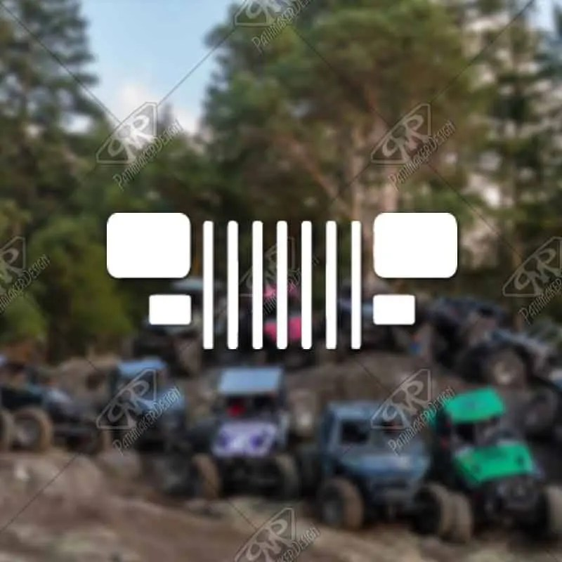 DECAL - [Jeep YJ Grill v2...