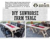 DIY Sawhorse Farm Table P...