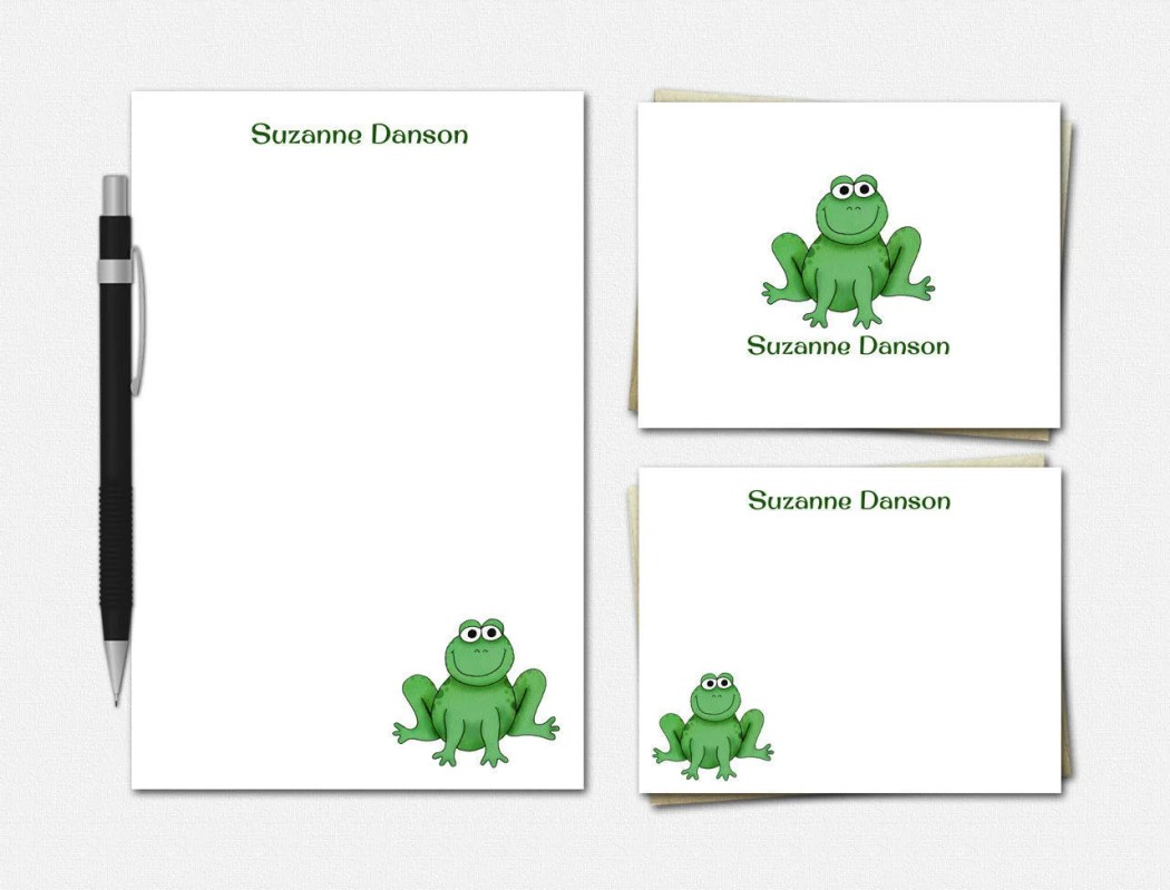 Frog Stationery Set - Fro...