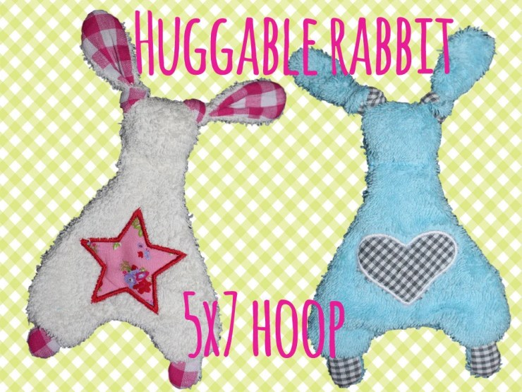 5x7 hoop - Rabbit Baby Toy  - Cute rabbit soft toys - In The Hoop - Machine Embroidery Design File, digital download