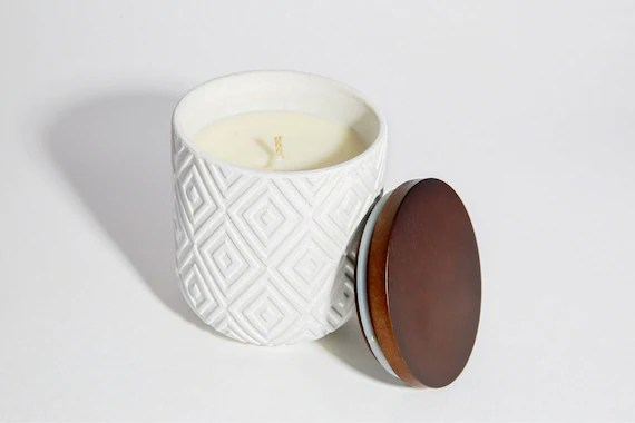 Matte White Soy Wax Scented Candle