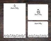 Music Notes Stationery Se...
