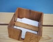 wooden napkin holder in p...