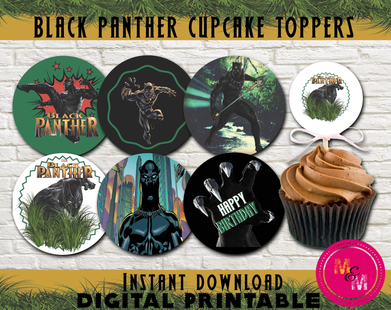 Black Panther Birthday Cupcake Toppers Printable Civil War