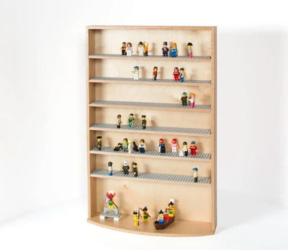7 Oak Shelf Interactive Display Case