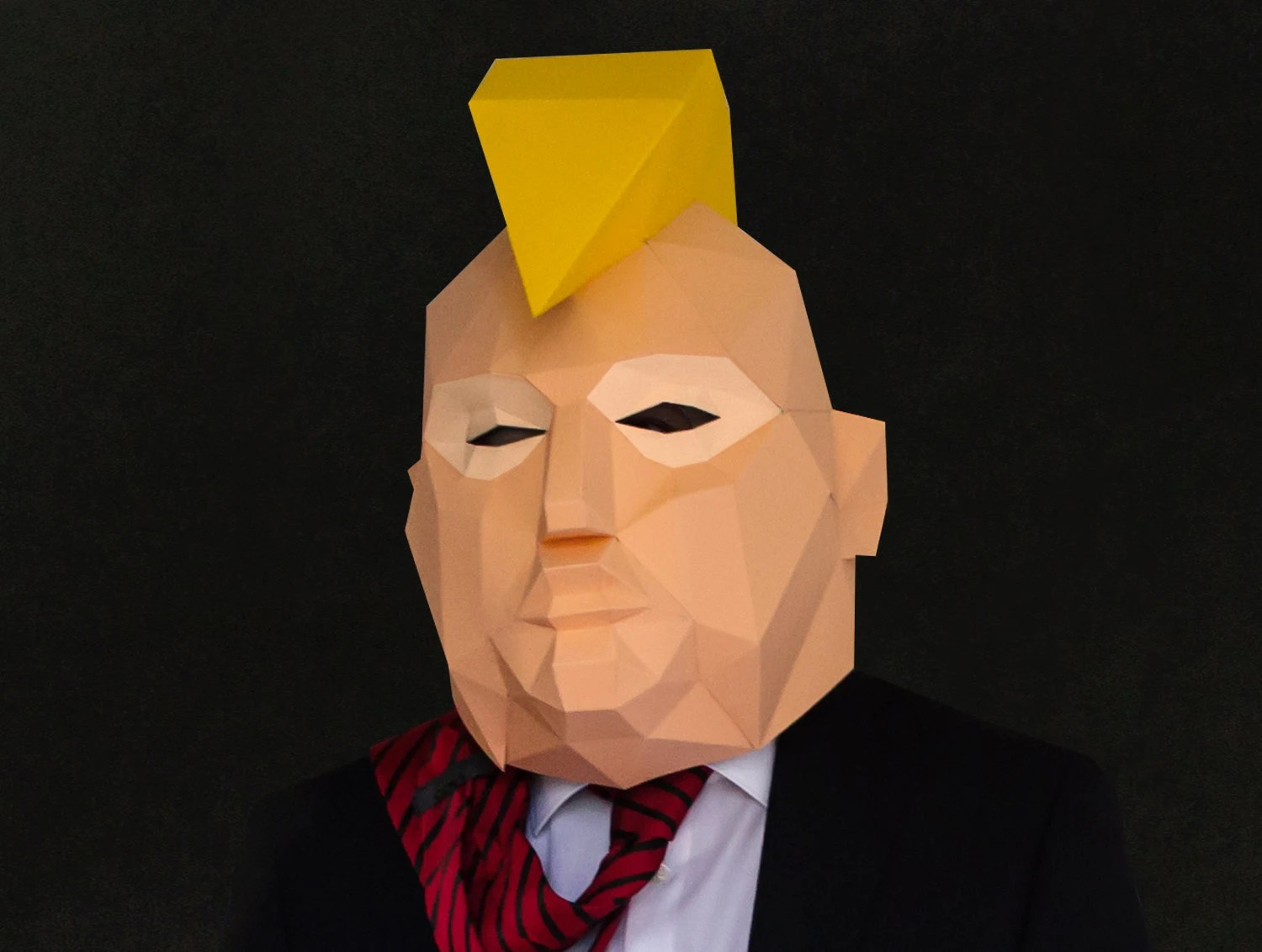 Donald Trump Punk Mask Diy Trump Head Instant Download