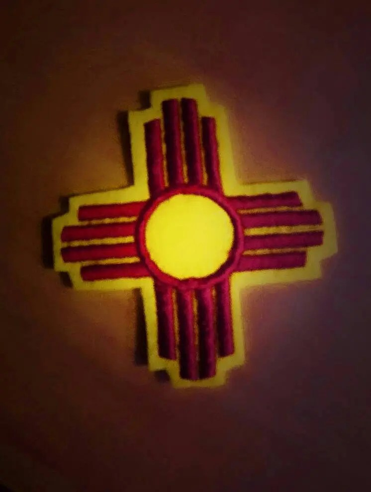 New Mexico Zia Symbol Iron On Patch