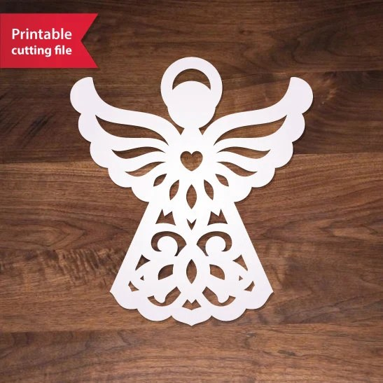 Christmas Angel Stencil