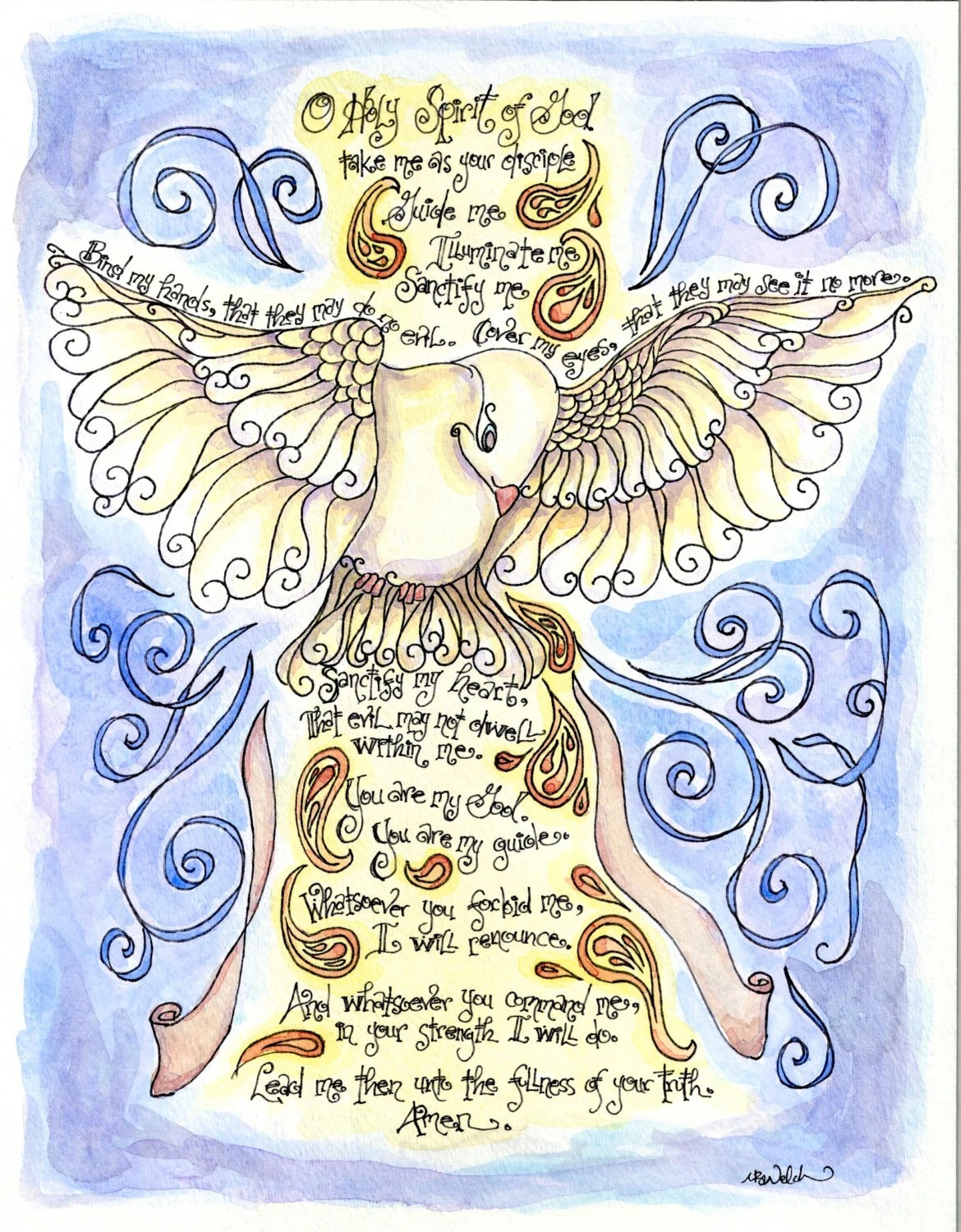 Holy Spirit Prayer With Dove Personalized Confirmation T