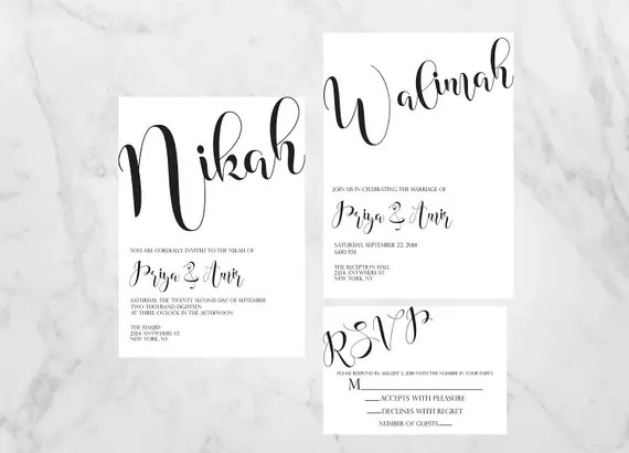 Nikah Invitation Invitationjdico - Nikkah invitation template