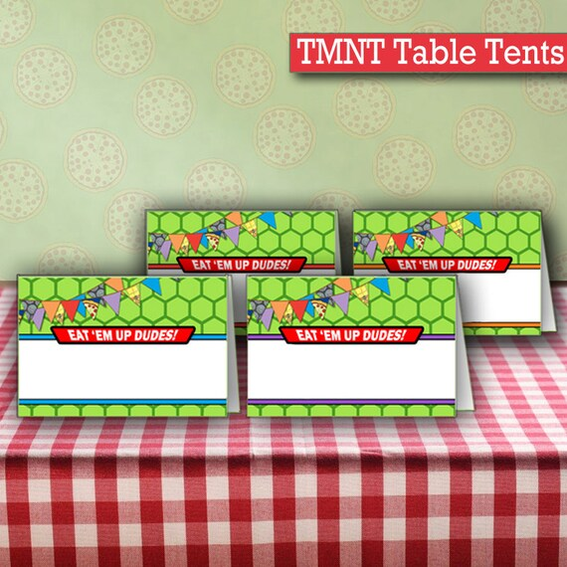 Ninja Turtle Printable Blank Cards