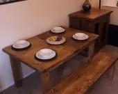 handmade chunky dining ta...