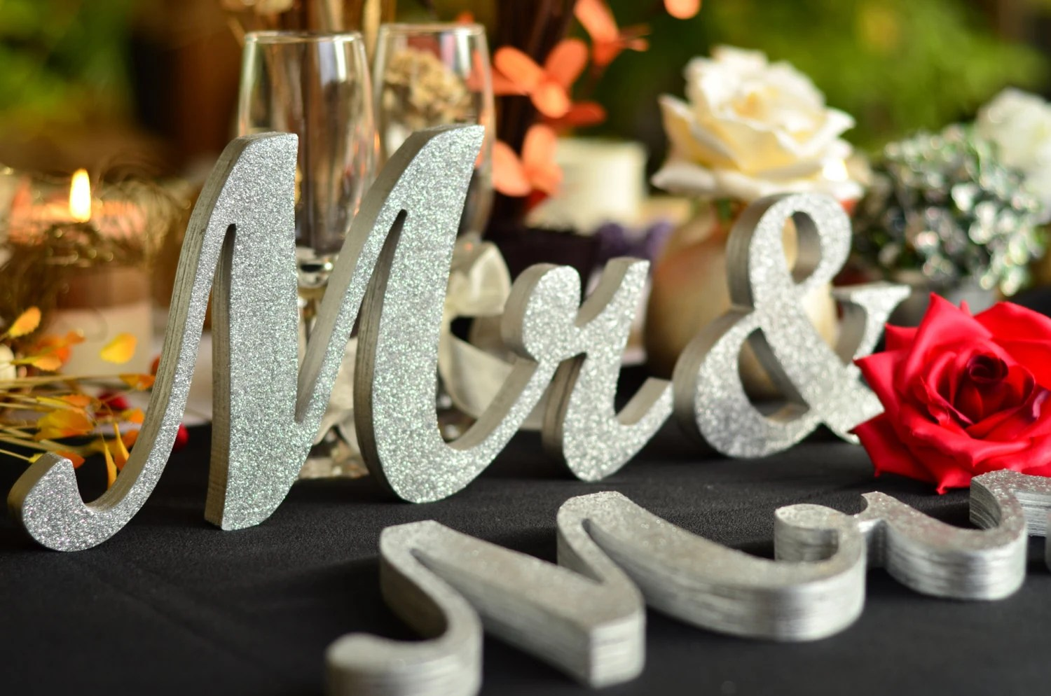 Mr. And. Mrs.. Sign Set. Wedding Sign Set. Sweetheart Table