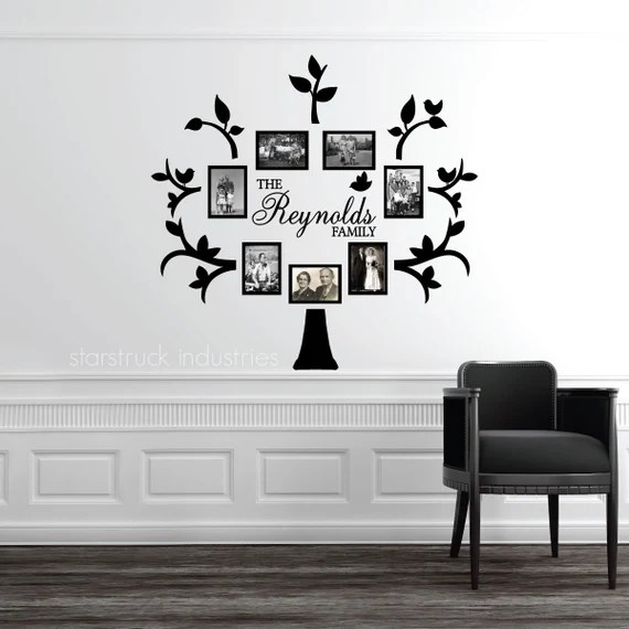 Last Name Family Tree Wall Decal by StarstruckIndustries