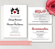 Mickey & Minnie Mouse Wedding Invitations DIY
