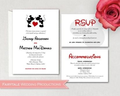 disney wedding invitations | DisneyFairyTales.com