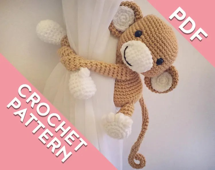Amigurumi Monkey Patterns : Easter monkey basket crochet amigurumi pattern