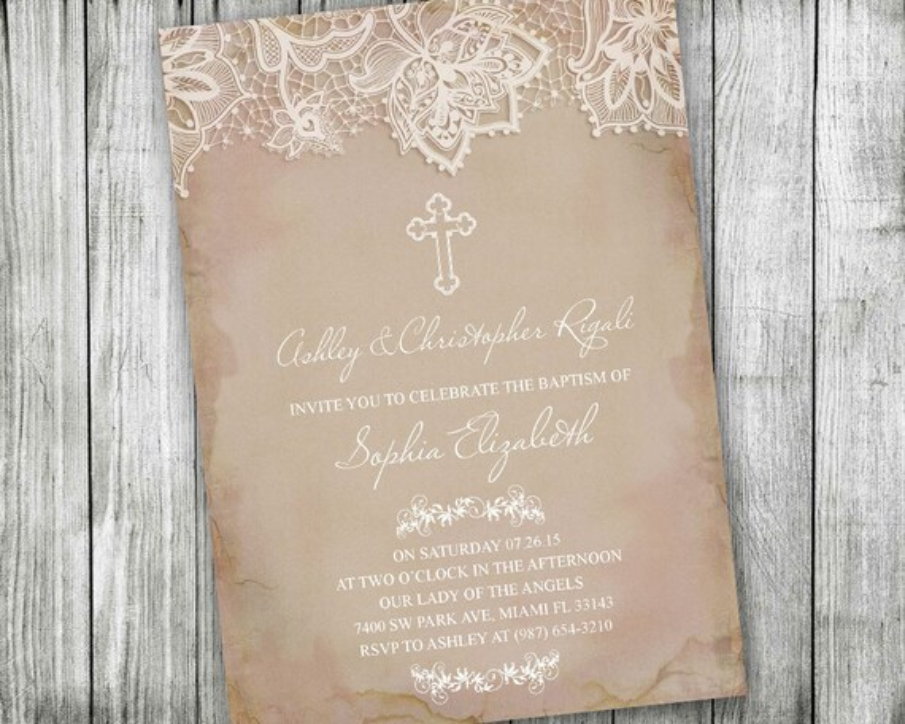 Pretty Christening Invitations