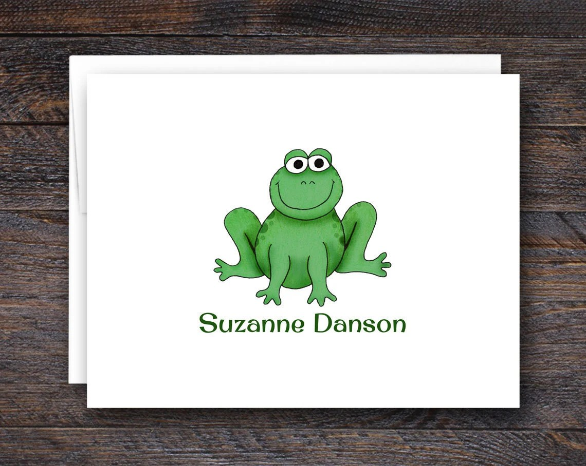 Personalized Frog Note Ca...