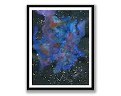 Abstract nebular space, W...