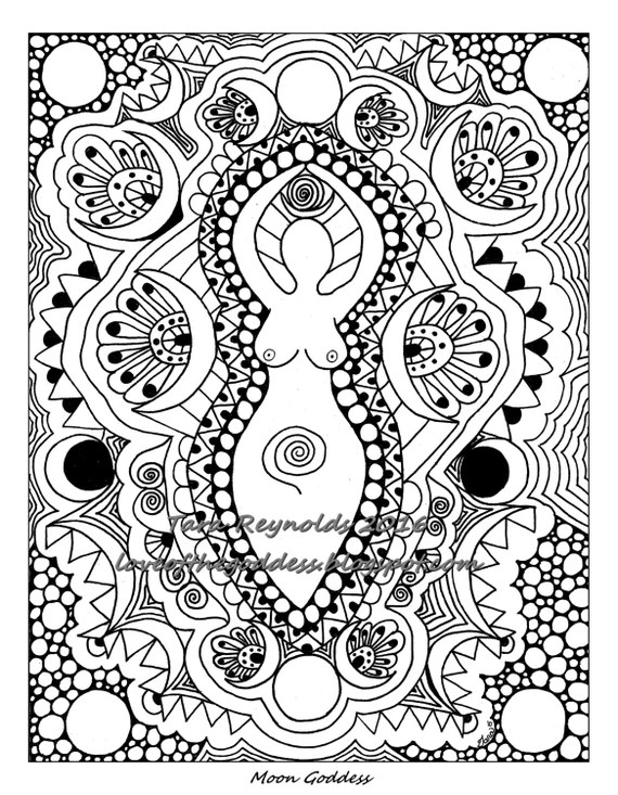 coloring pages for adults moon goddess coloring page pagan art